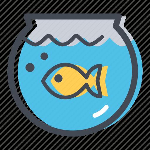 aquarium, fish, fishbowl, home, pet, shop, water icon