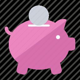 bonus, cash, currency, money, piggy bank, sale, save icon