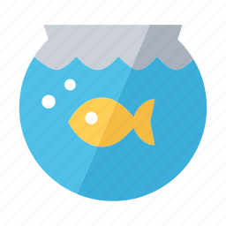 aquarium, fish, fishbowl, home, pet, shop, water icon