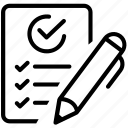 checklist, goals, items, list, projects, tasks, work icon