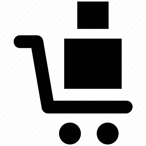 cargo, delivery, package, product, shopping, shopping trolley, trolley icon