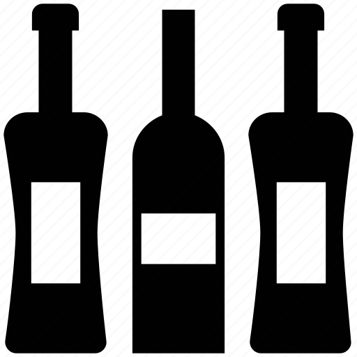 alcohol, beverage, bottle, drink, liquor bottle, wine bottles icon