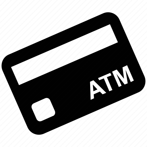 atm card, bank card, card, credit card, debit card, payment card icon