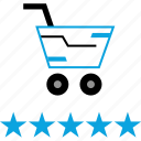 excellent, experience, good, shopping icon
