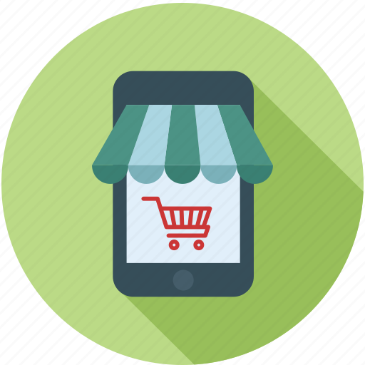 app store, mobile store, online store, shop online icon