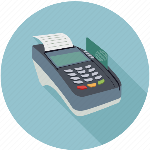 check out, credit card reader, debit card reader, register icon