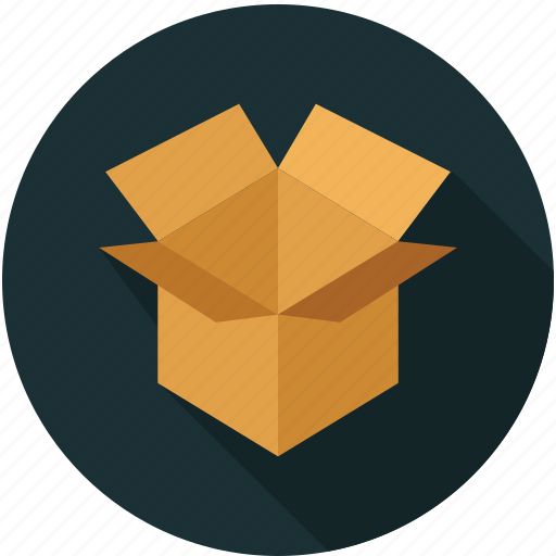 box, cardboard, moving box, storage icon