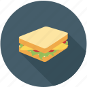 dinner, food, lunch, sandwich icon
