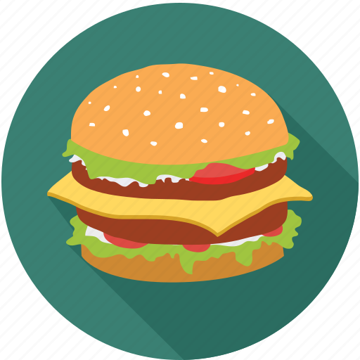 burger, double cheese burger, fast food, gourmet food icon