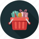 basket, groceries, grocery store, shopping basket icon