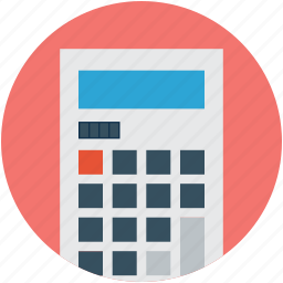 accounting, calculating device, calculation, calculator, calculator machine, digital calculator icon