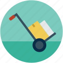 hand cart, hand trolley, luggage trolley, platform truck, shopping cart, trolley icon