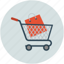 hand trolley, hand truck, shopping, shopping cart, stack trolley, trolley icon