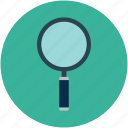 magnifier, magnifying glass, search, tool, zoom icon
