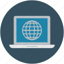 global, internet, network, screen globe, universal network icon