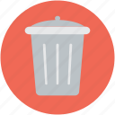 dustbin, garbage can, recycle bin, rubbish bin, trash can icon