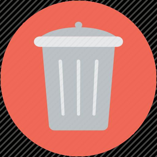 dustbin, garbage can, recycle bin, rubbish bin, trash can icon