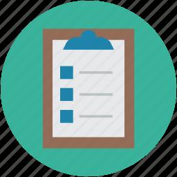 catalog, checklist, clipboard list, index, list, schedule icon
