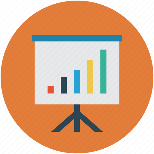 bar chart, business presentation, easel, graph, statistic icon