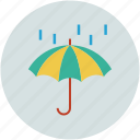 parasol, protection, rain, raining, shade, umbrella icon