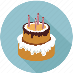 anniversary, birthday, cake icon