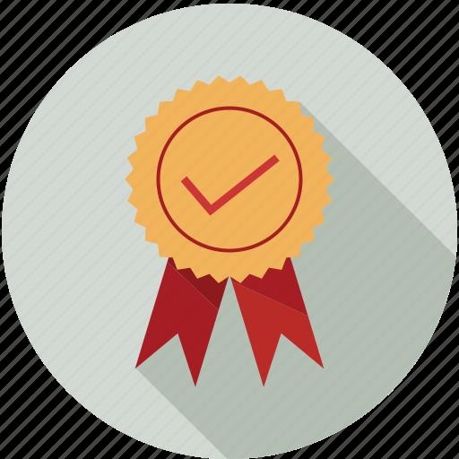 award, certificate, medal, qualified, reward icon