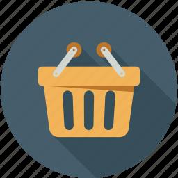 basket, online cart, shopping, shopping basket icon
