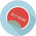 buy now, buy sticker, price sticker icon