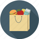 food, grocery bag, shopping, groceries