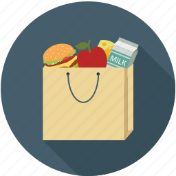 food, groceries, grocery bag, shopping icon