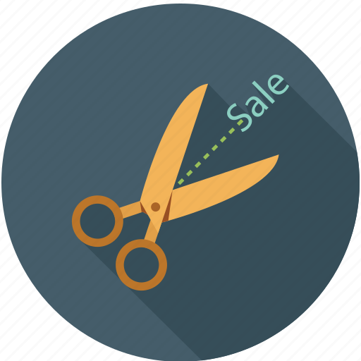 half off, sale, sale cut icon