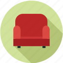 chair, furniture, love seat icon