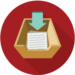 deposit, input, insert, receiving icon