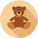 bear, kid toy, teddy bear icon