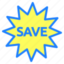 discount, label, offer, profit, save, tag icon