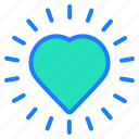 clock, favorite, heart, love, wishlist icon