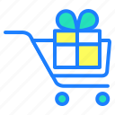 delivery, gift, offer, online shopping, purchase, shopping cart