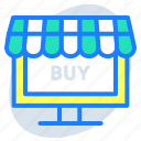 computer, online shopping, online store, retail, shopping website, store, website icon