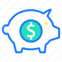 bank, investment, piggy bank, save, savings, shopping icon