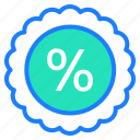 discount, gift, label, offer, percentage, sale icon