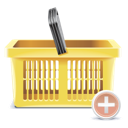 add, shopping basker icon