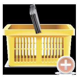 add, shopping basker icon