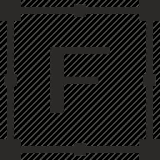f, key, latin, letter, transform icon