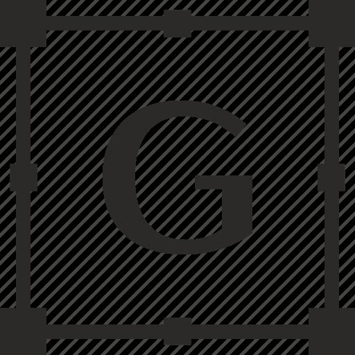 g, key, latin, letter, transform icon