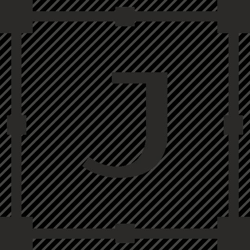 j, key, latin, letter, transform icon