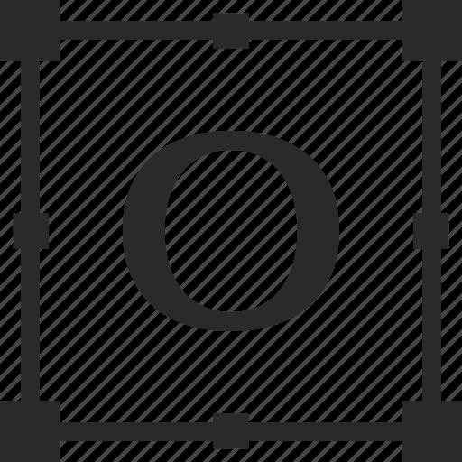 key, latin, letter, o, transform icon