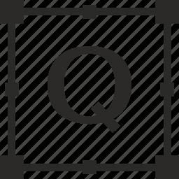 key, latin, letter, q, transform icon