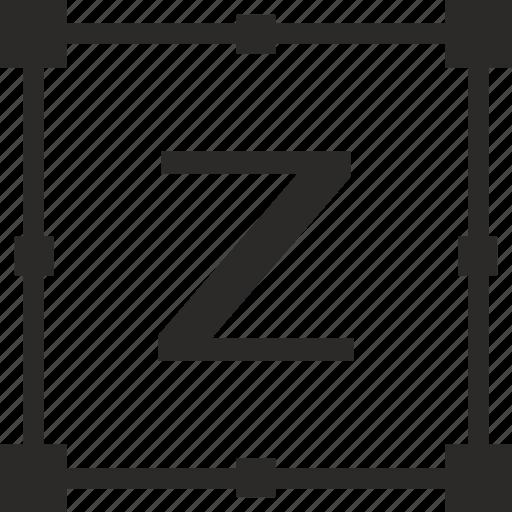 key, latin, letter, transform, z icon