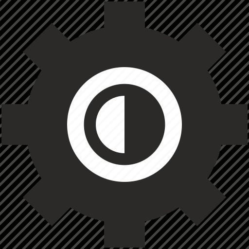 configuration, contrast, option, settings icon