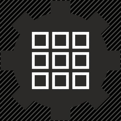 app, choice, grid, menu, option, settings, tile icon